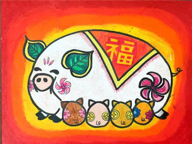 题库猪年邮票大赛设计,中山一小年级获广东省全国数学学生四小学图片